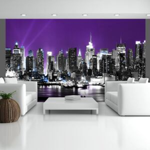 Fototapeta Bimago - Purple heaven over New York + lepidlo zadarmo 450x270 cm