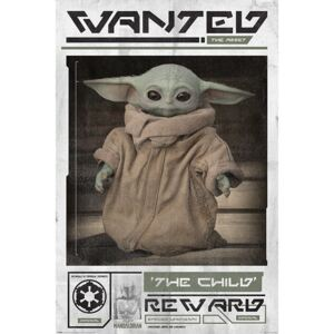 Plagát, Obraz - Star Wars: The Mandalorian - Wanted The Child (Baby Yoda), (61 x 91,5 cm)
