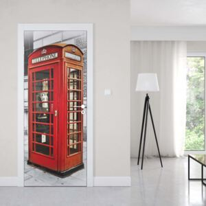 GLIX Fototapeta na dvere - London Red Telephone Box