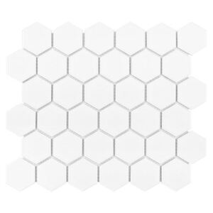 DUNIN - HEXAGON White 51 MATT (32 x 28cm/1ks)