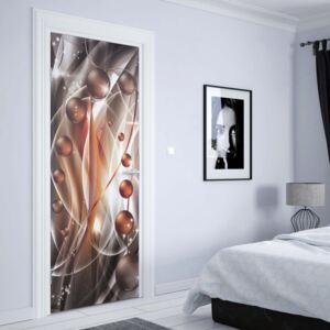 GLIX Fototapeta na dvere - 3D Modern Ornamental Design Orange And Grey