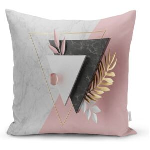 Obliečka na vankúš Minimalist Cushion Covers BW Marble Triangles, 45 x 45 cm
