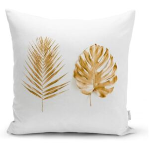 Obliečka na vankúš Minimalist Cushion Covers Golden Leafes, 45 x 45 cm