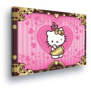GLIX Obraz na plátne - Golden Hello Kitty 60x40 cm