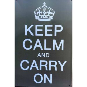 Ceduľa Keep Calm Carry On