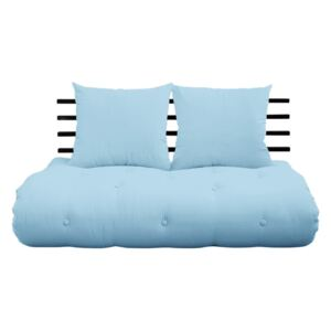 Rozkladacia pohovka Karup Design Shin Sano Black/Light Blue