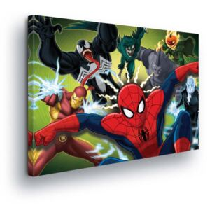GLIX Obraz na plátne - Marvel Spiderman in Boji 60x40 cm