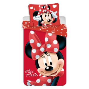 Jerry Fabrics obliečky Minnie Big Red micro 140x200 70x90