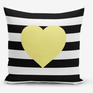 Obliečky na vaknúš s prímesou bavlny Minimalist Cushion Covers Striped Yellow, 45 × 45 cm