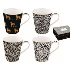 Hrnček porcelánový, set 4ks 260ml, krabička, Coffee Mania Savana