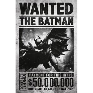 Plagát, Obraz - BATMAN ARKHAM ORIGINS - wanted, (61 x 91,5 cm)