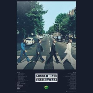 Plagát, Obraz - Beatles - Abbey Road Tracks, (61 x 91,5 cm)