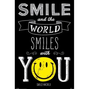 Plagát, Obraz - Smiley - World Smiles WIth You, (61 x 91,5 cm)