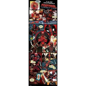Plagát, Obraz - Deadpool - Panels, (53 x 158 cm)