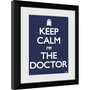 Rámovaný Obraz - Doctor Who - Keep Calm