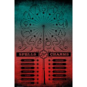 Plagát, Obraz - Harry Potter - Spells And Charms, (61 x 91,5 cm)