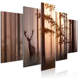 Obraz - Morning (5 Parts) Wide Brown 100x50