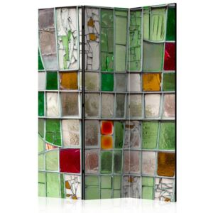 Paraván - Emerald Stained Glass [Room Dividers] 135x172