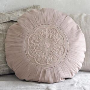 Obliečka na vankúš Embroidery Dusty Rose 50cm