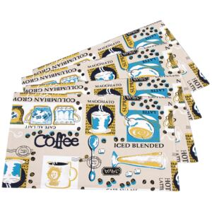 Trade Concept Prestieranie Coffee, 33 x 45 cm, sada 4 ks
