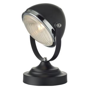 ACA DECOR Stolná retro lampa Headlight Black