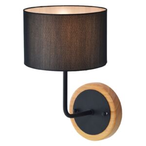 ACA DECOR Nástenná lampa Fabric Black