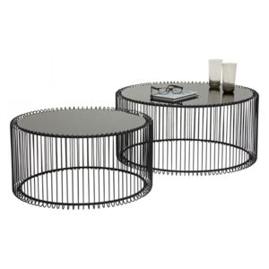 KARE DESIGN Konferenčný stolík Wire Black (2 / Set)