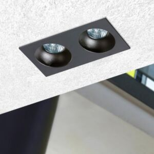 AZzardo Hugo 2 Black Downlight AZ1740 zapustené stropné