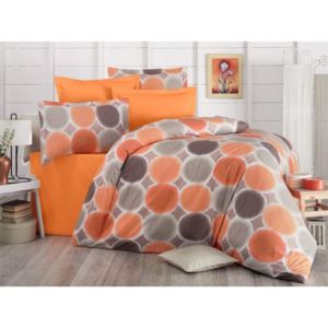Brotex Obliečky krep, Liberta orange 140x200, 70x90cm