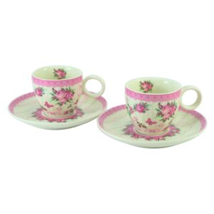 Home Elements Porcelánová šapo súprava, 100 ml - Ruža
