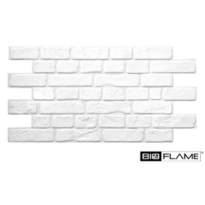 3D PVC obklad White Brick (950 x 495 mm - 0,47 m2)