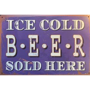 Ceduľa Ice Cold Beer Sold Here