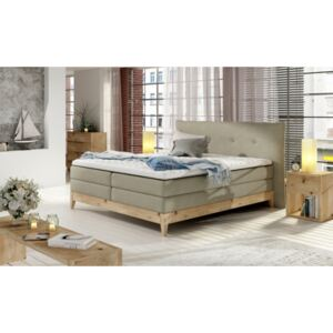 WRL Boxspring Pilato massiv wood + topper