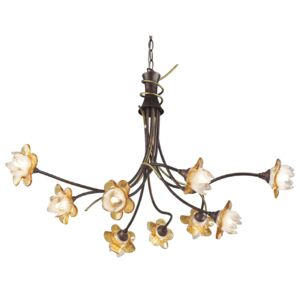 ACA DECOR Luster Flowers Amber 9xG9