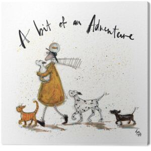 Obraz na plátne Sam Toft - A Bit of an Adventure, (30 x 30 cm)