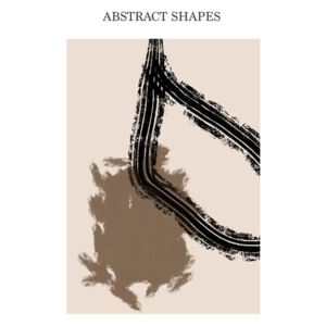 Abstract Shapes beige, (85 x 128 cm)