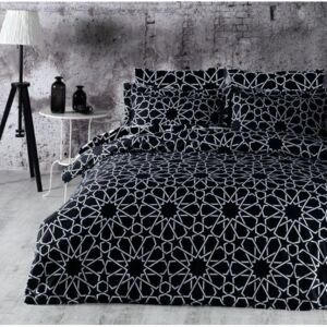 Brotex Obliečky Satén Exclusive Grace black 140x200/70x90cm