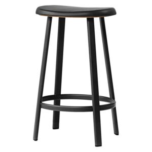 Million Barová stolička Anno Stool H65, black/black leather