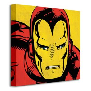 Obraz na plátne Marvel Comics (Iron Man Closeup) 40x40cm WDC95453