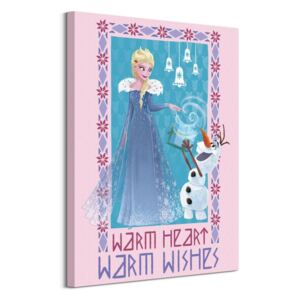 Obraz na plátne Disney Olaf's Frozen Adventure Warm Heart Warm Wishes 60x80cm WDC100357