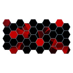 3D PVC obklad Hexagon (960 x 480 mm - 0,46 m2)