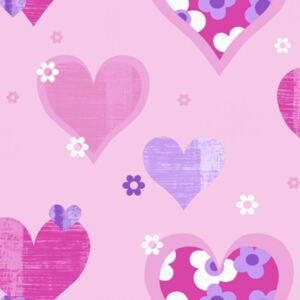 Arthouse Tapeta na stenu - Happy Hearts Happy Hearts Pink
