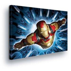 GLIX Obraz na plátne - Marvel Iron Man in Blue Glow 60x40 cm