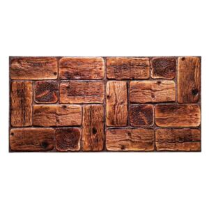 3D PVC obklad Rustik Wood (960 x 480 mm - 0,47 m2)
