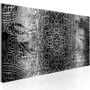 Obraz - Mandala: Grey Depths 120x40