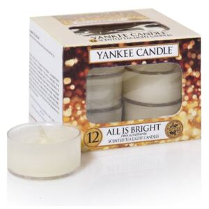 Yankee Candle vonné čajové sviečky All is bright