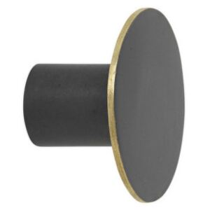 Ferm Living Vešiak Black Brass, small