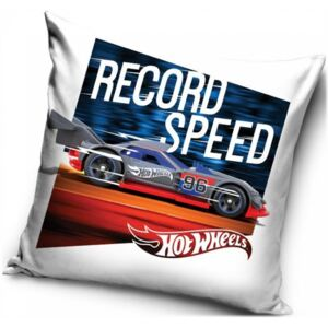 Carbotex · Povlak na vankúš Hot Wheels - motív Record Speed - 40 x 40 cm
