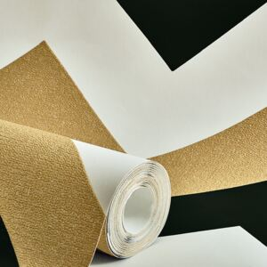 Arthouse Glitterati Chevron Black and Gold - tapeta na stenu