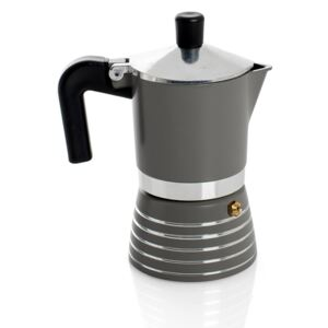 MOKA 3 CUPS Grey kanvica